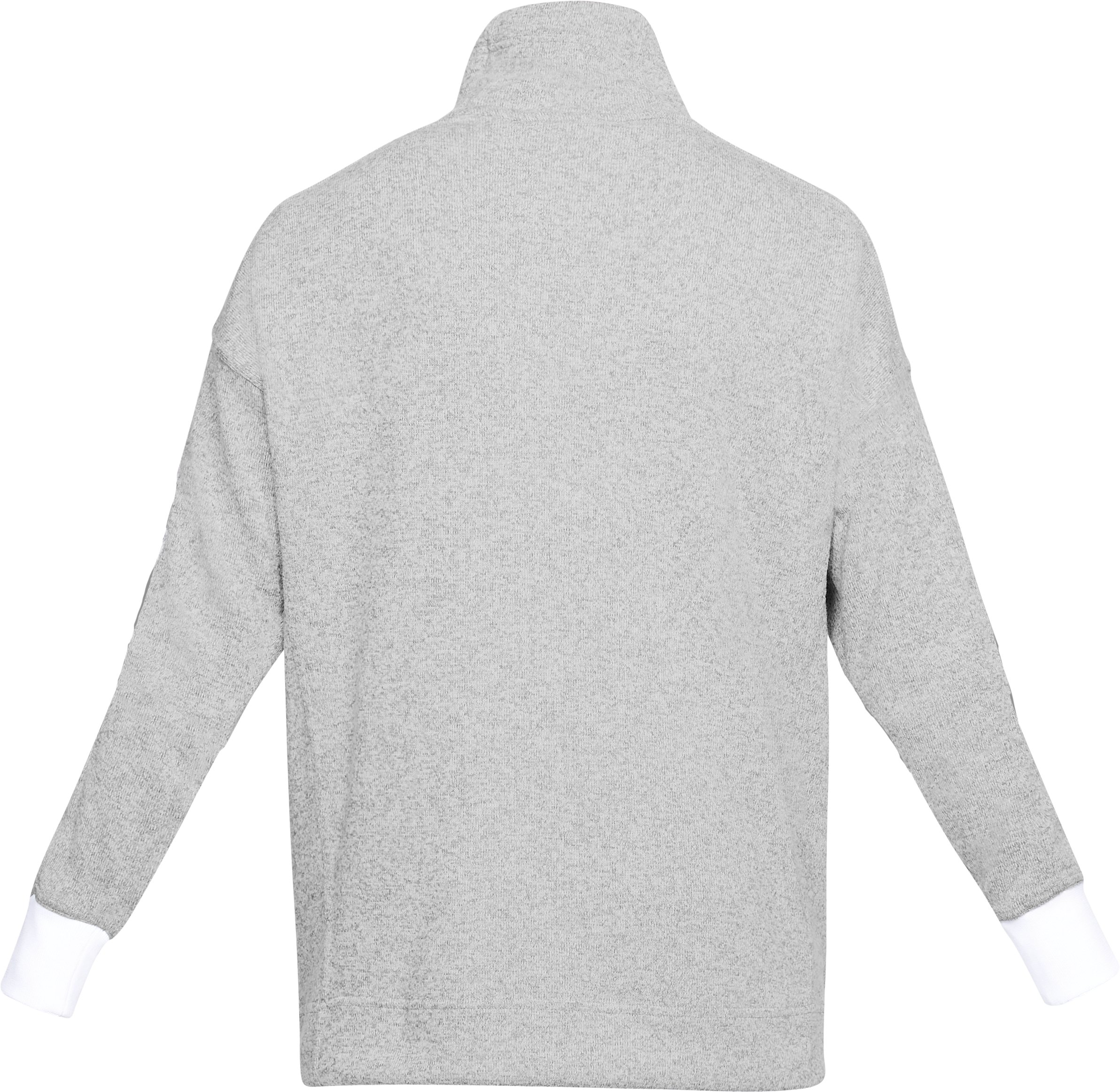 Women's UA SweaterFleece Funnel Neck, True Gray Heather,