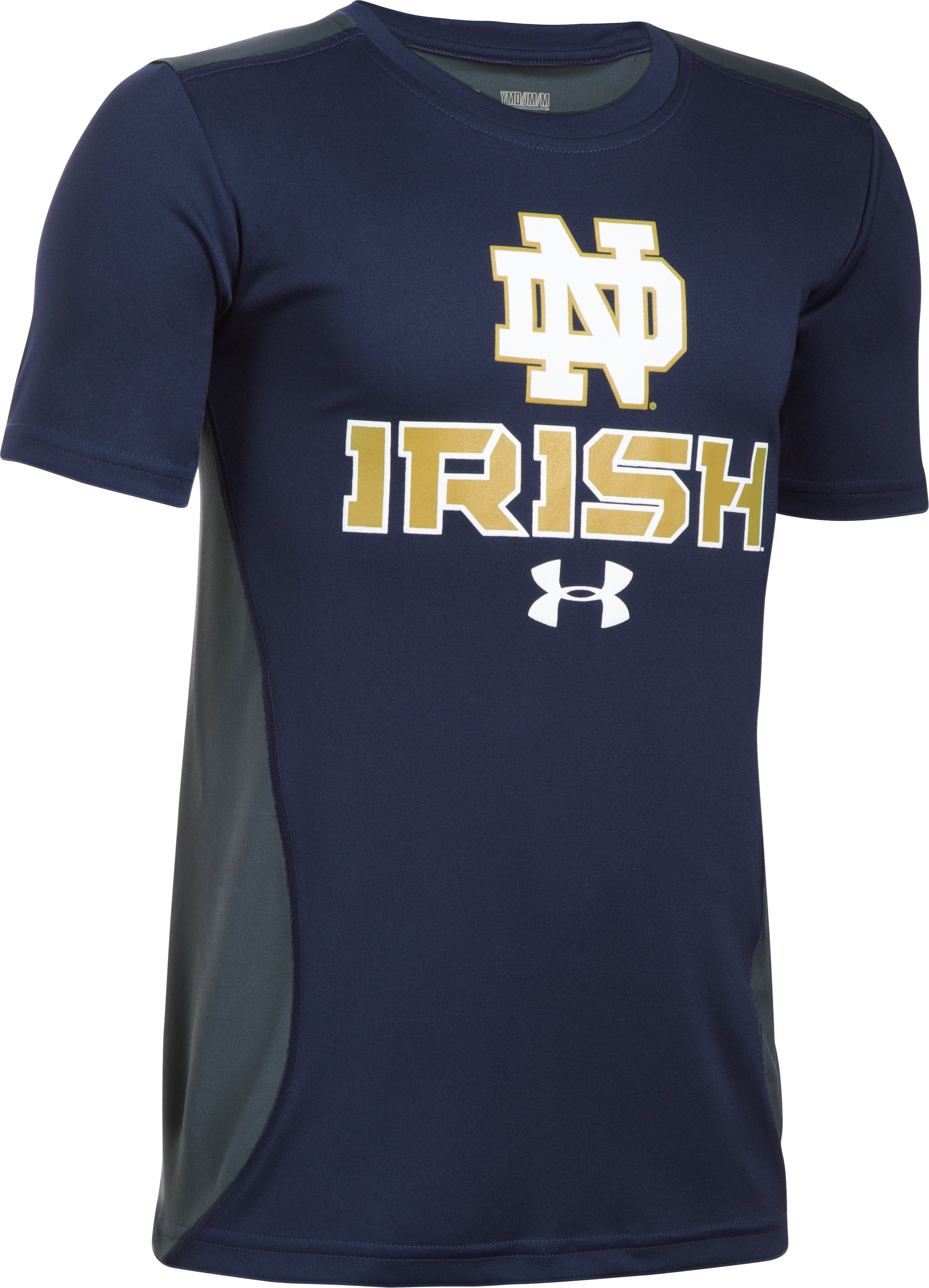 Boys' Notre Dame UA Tech™ CB T-Shirt , Midnight Navy