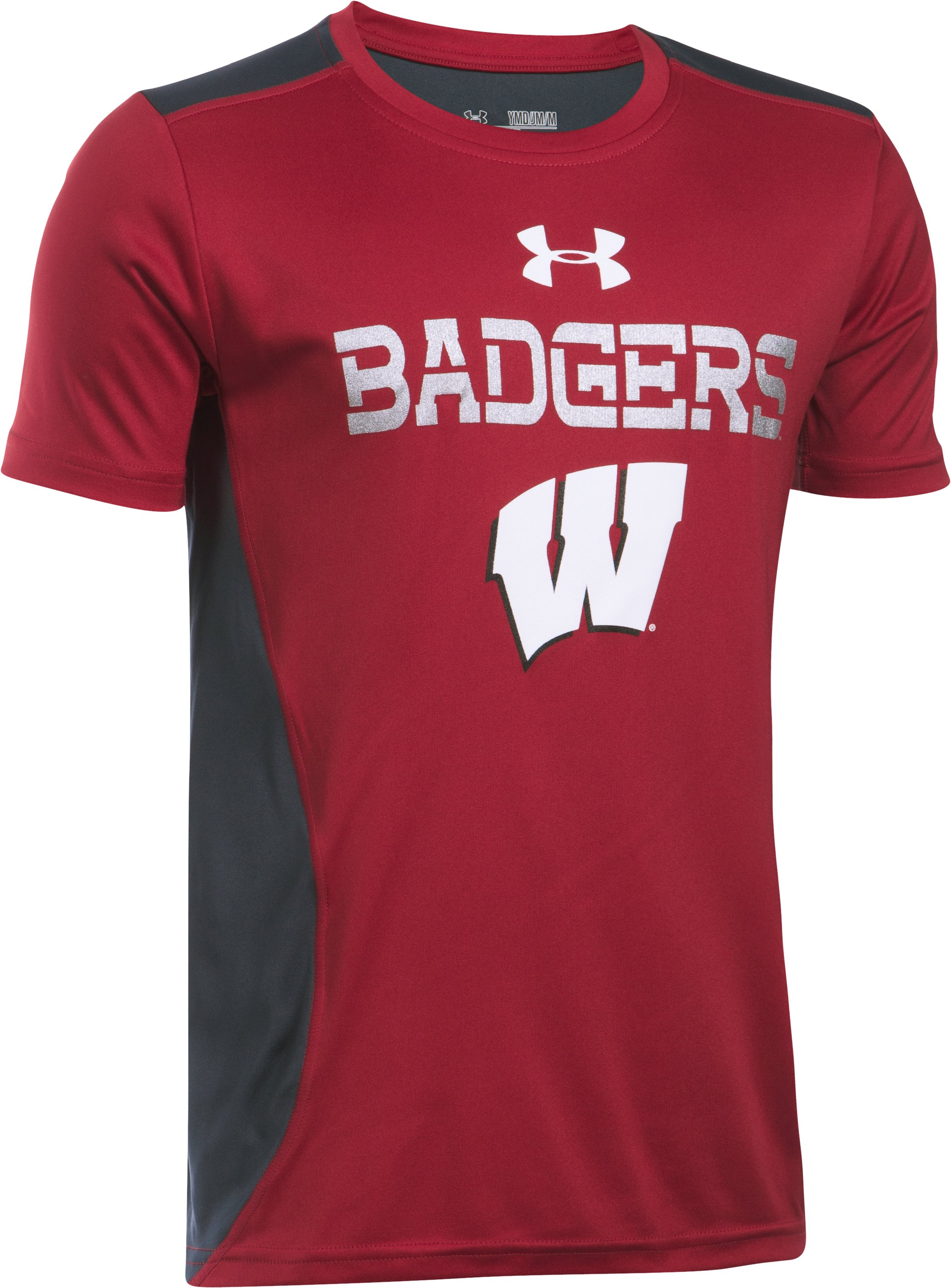 Boys' Wisconsin UA Tech™ CB T-Shirt , Flawless, undefined
