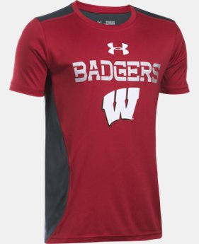 New Arrival Boys' Wisconsin UA Tech™ CB T-Shirt  LIMITED TIME: FREE SHIPPING 1 Color $26.99