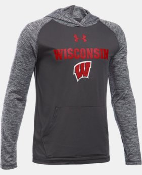 Boys' Wisconsin UA Tech™ Hoodie LIMITED TIME: FREE SHIPPING 1 Color $39.99