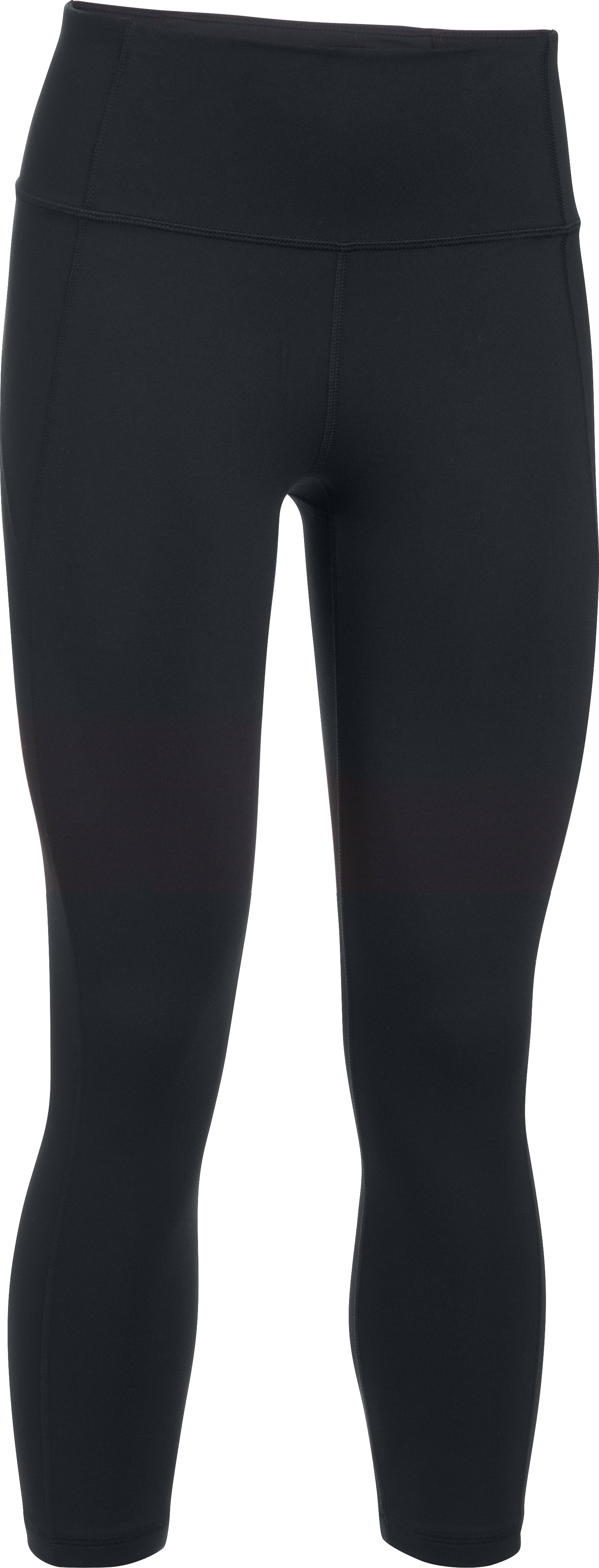 Women's UA Mirror Hi-Rise Crop, Black , undefined
