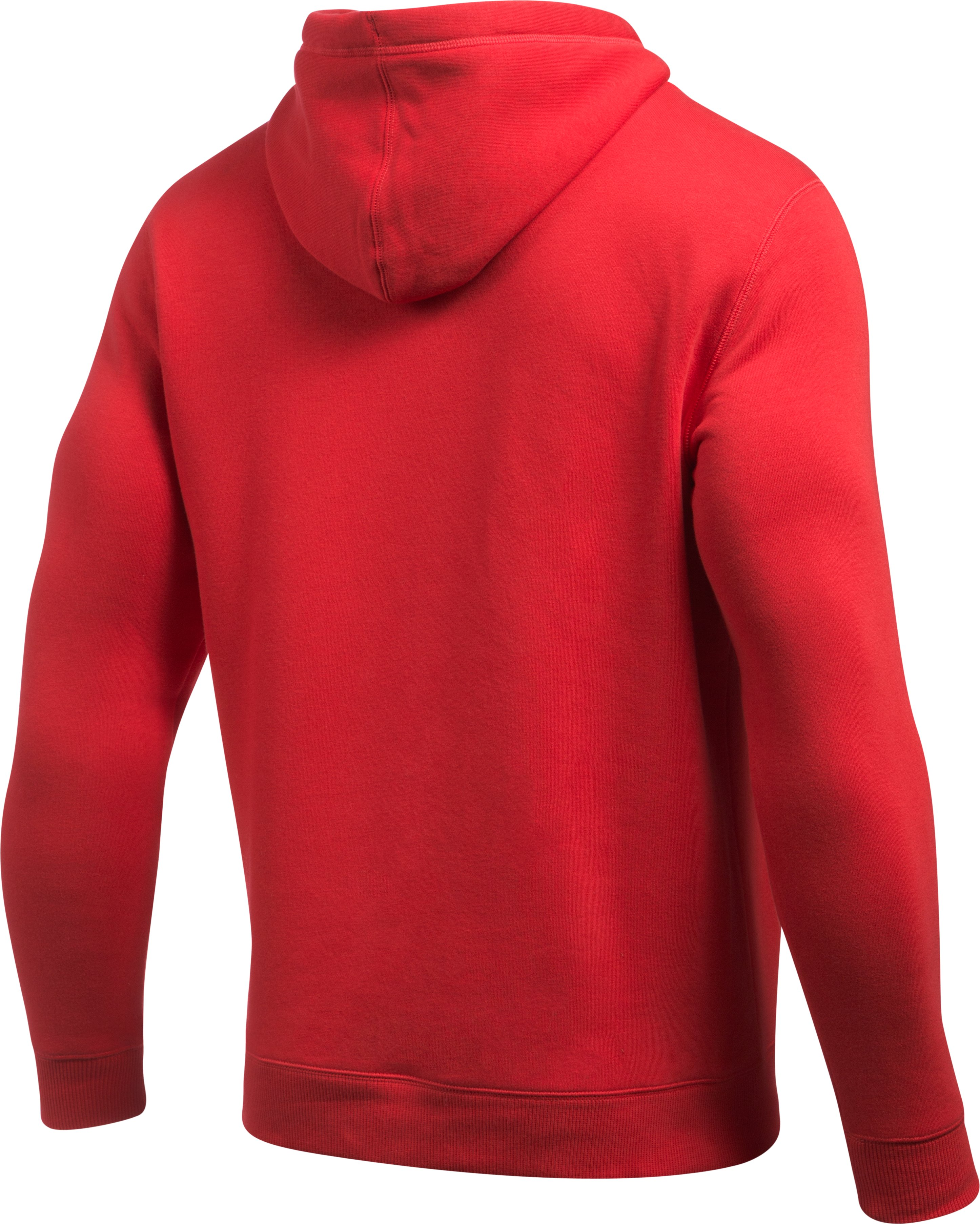 Men's UA Rival Fleece Fitted Full Zip Hoodie, Red