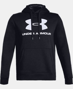 Men's UA Rival Fleece Fitted Graphic Hoodie  1  Color Available $44.99