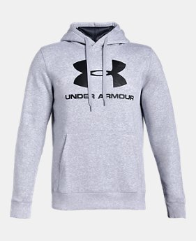 86965fc7 Men's UA Rival Fleece Fitted Graphic Hoodie 2 Colors Available $44.99