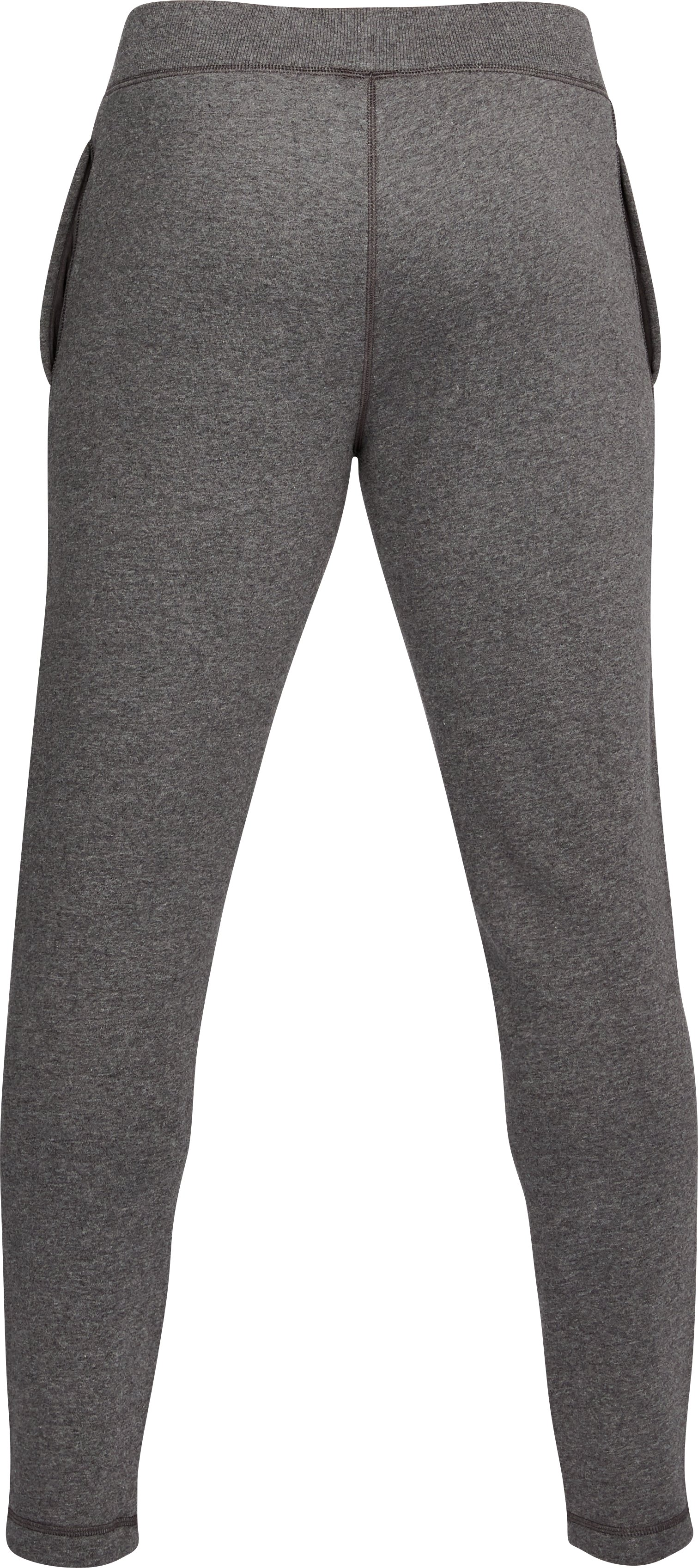 Men's UA Rival Fleece Fitted Pants, Carbon Heather, undefined
