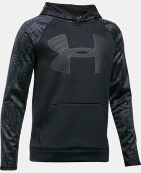 Boys' UA Storm Armour Fleece Big Logo Printed Hoodie LIMITED TIME OFFER 5 Colors $39.99