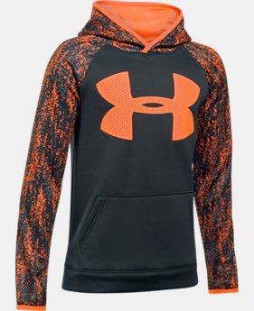 Boys' UA Storm Armour Fleece Big Logo Printed Hoodie LIMITED TIME OFFER 5 Colors $29.99