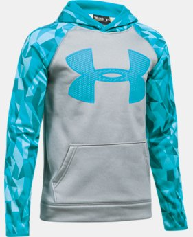 Boys' UA Storm Armour Fleece Big Logo Printed Hoodie LIMITED TIME OFFER 2 Colors $39.99