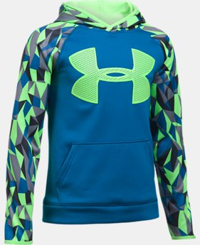 Boys' UA Storm Armour Fleece Big Logo Printed Hoodie  1 Color $59.99