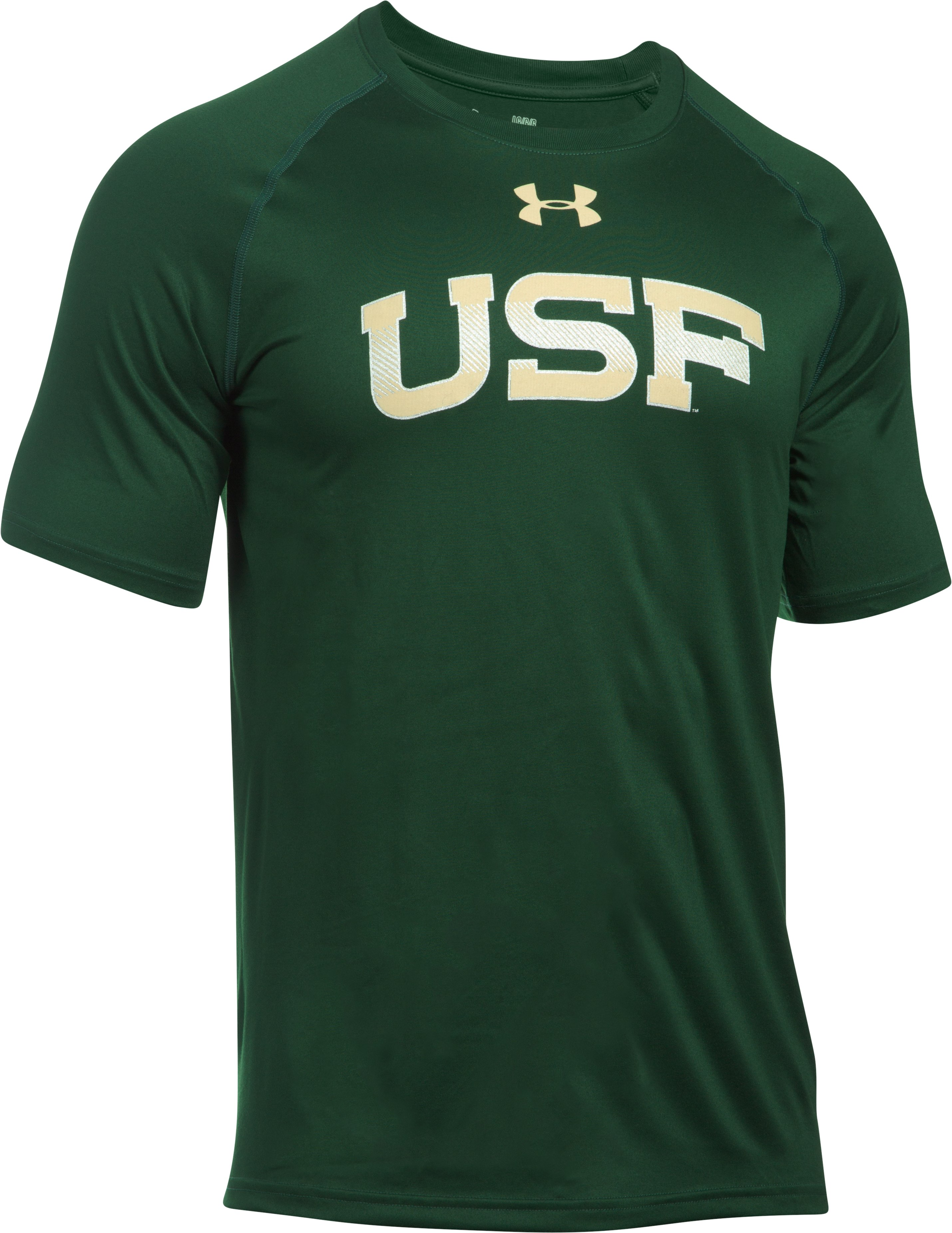 Men's South Florida UA Tech™ Team T-Shirt, Forest Green, undefined