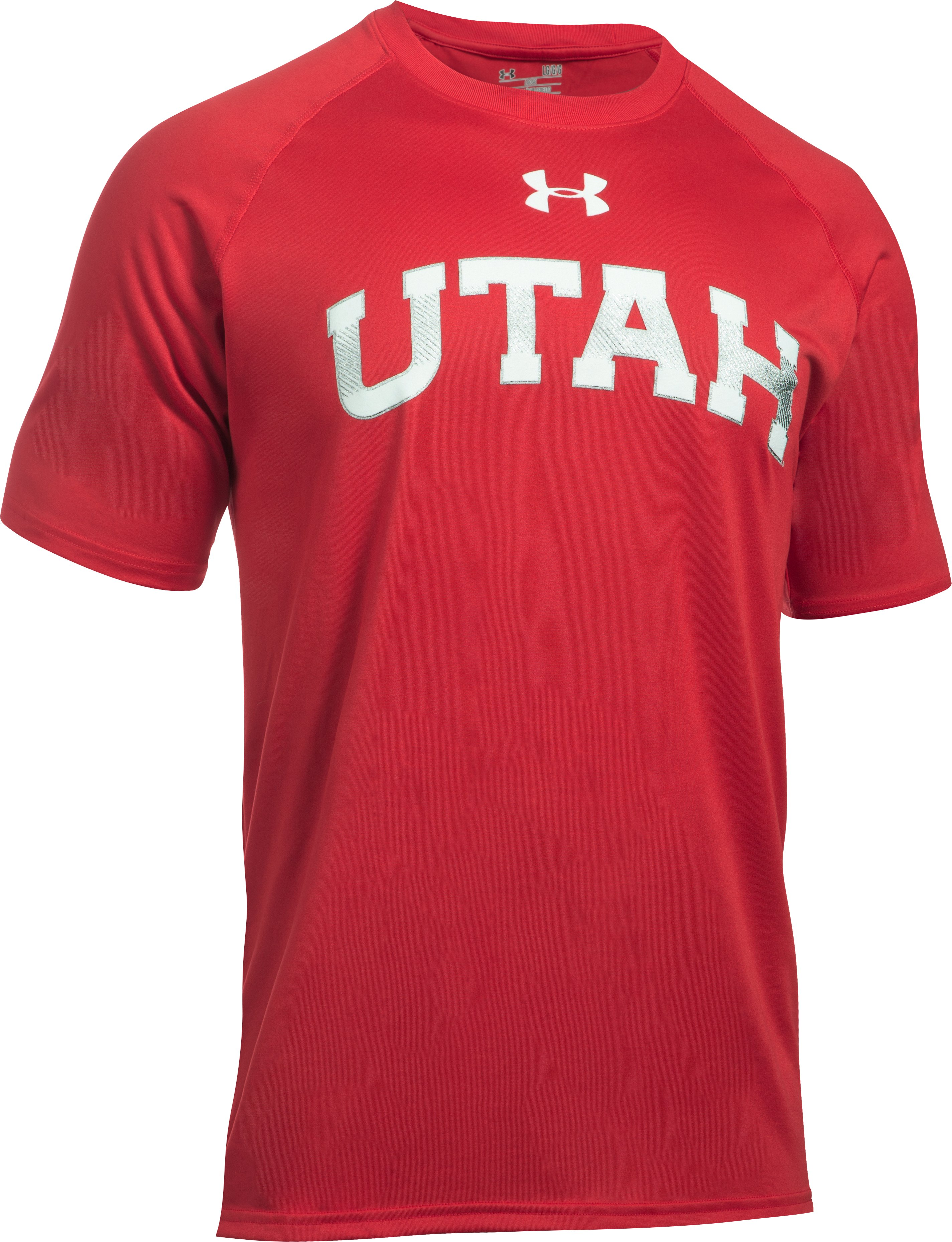 Men's Utah UA Tech™ Team T-Shirt, Red, undefined