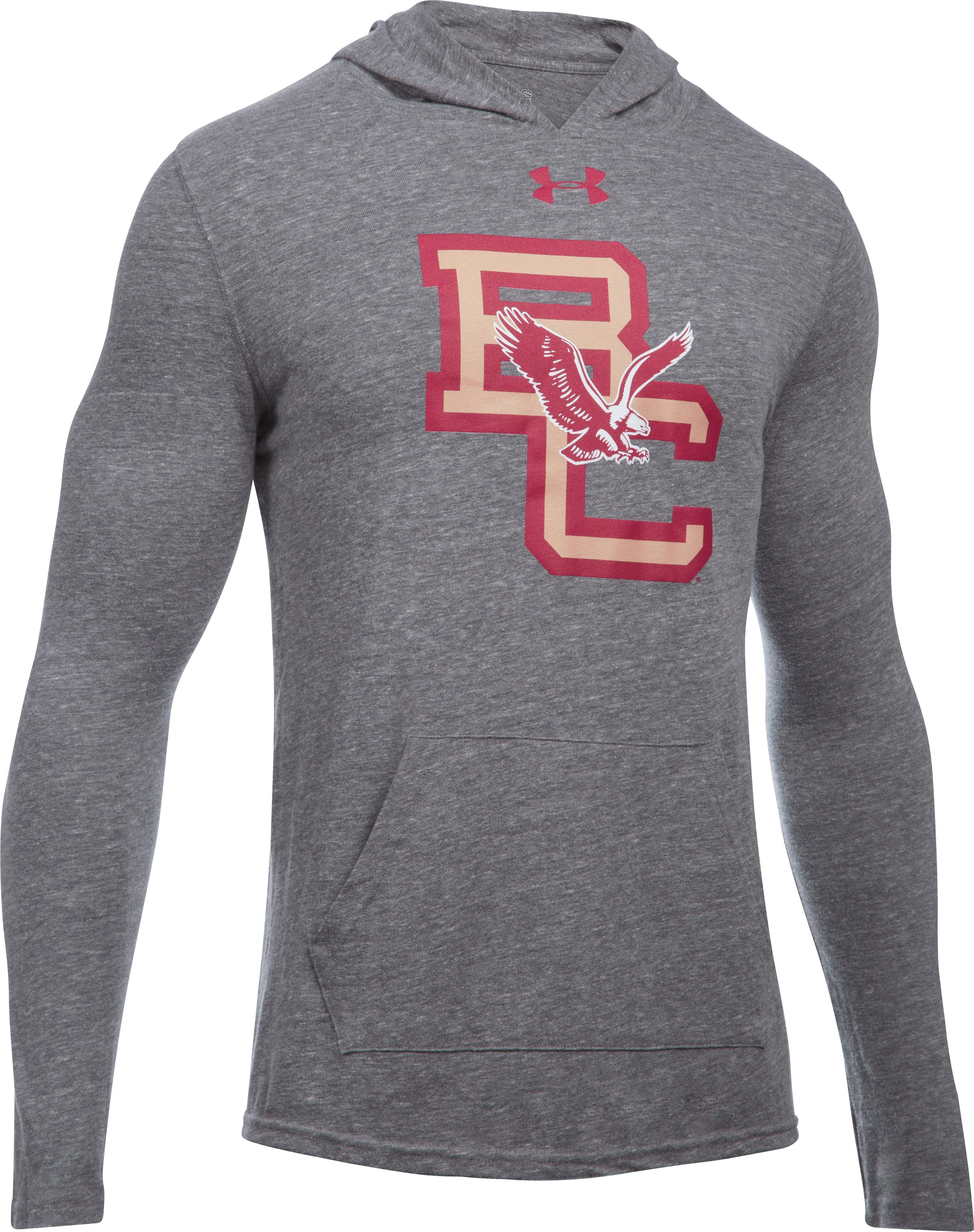 Men's Boston College UA Tri-Blend Hoodie, LEGACY GRAY HEATHER, undefined