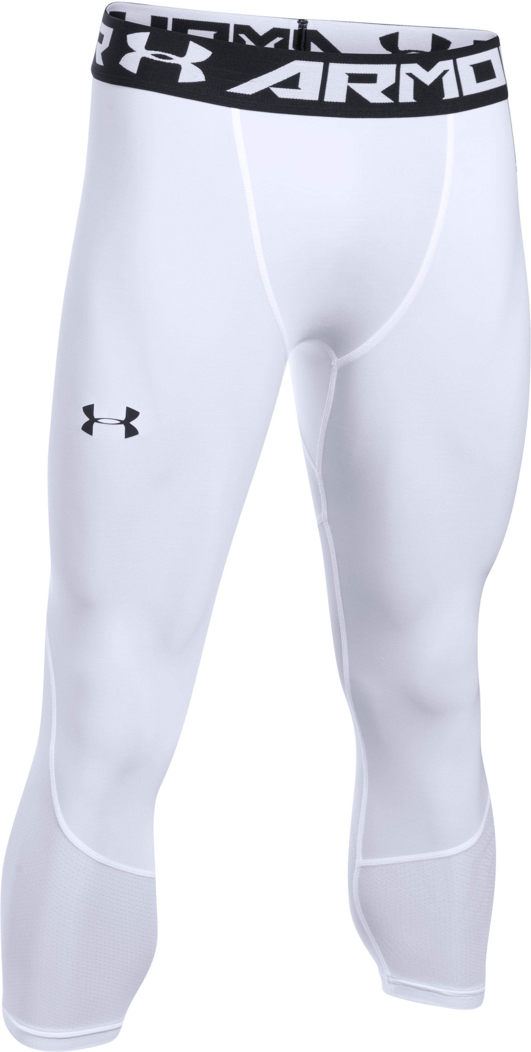 Men's UA Team ¾ Leggings, White,