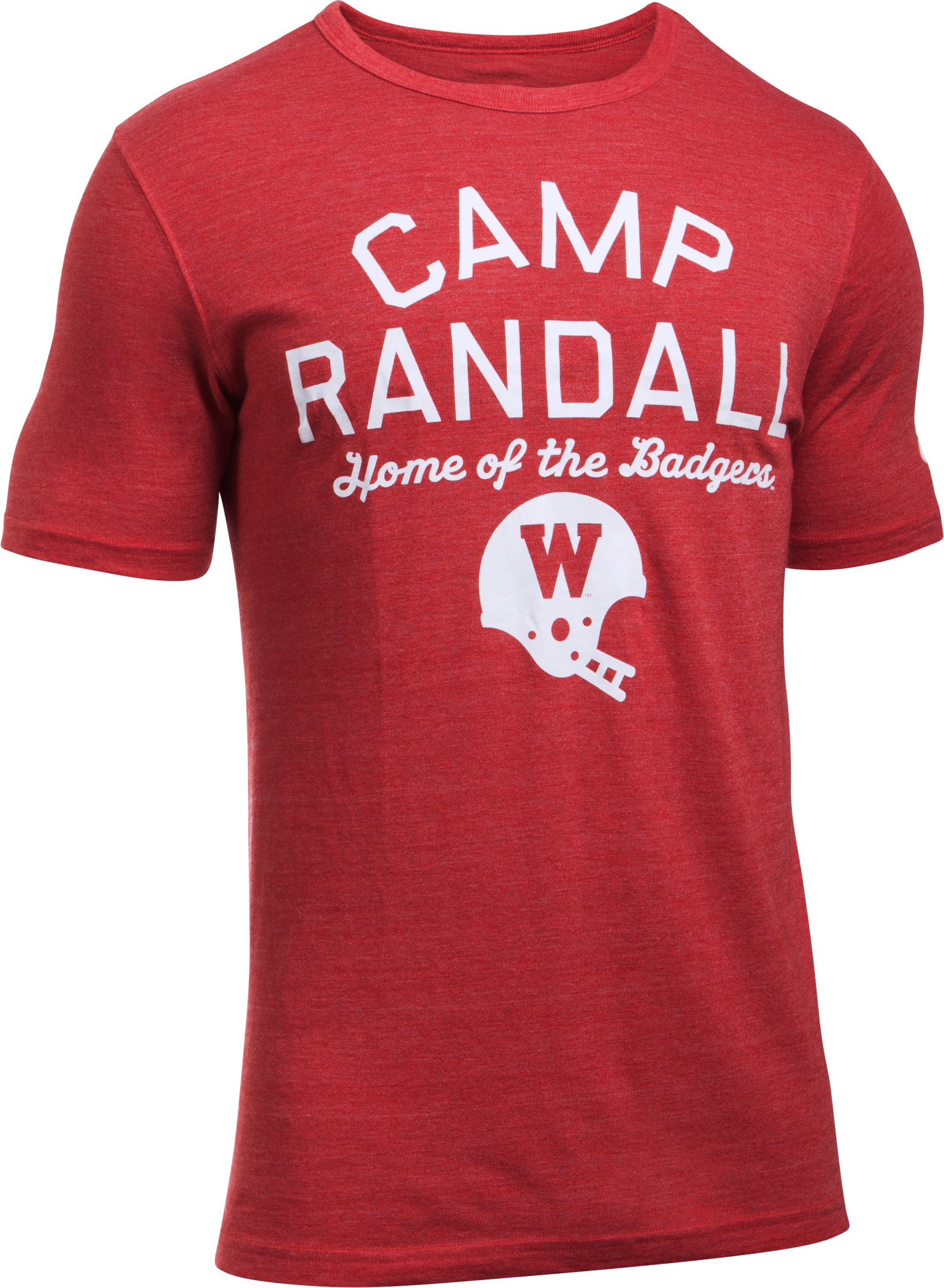 Wisconsin UA Iconic Camp Randall T-Shirt, Flawless, undefined