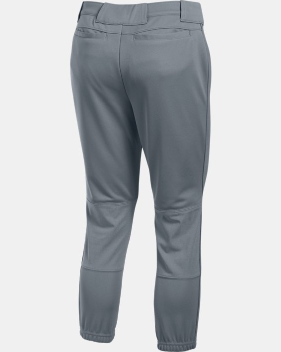 Women's UA Force Out Crop Pants, Gray, pdpMainDesktop image number 4