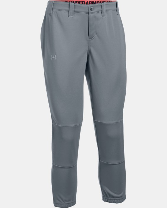 Women's UA Force Out Crop Pants, Gray, pdpMainDesktop image number 3