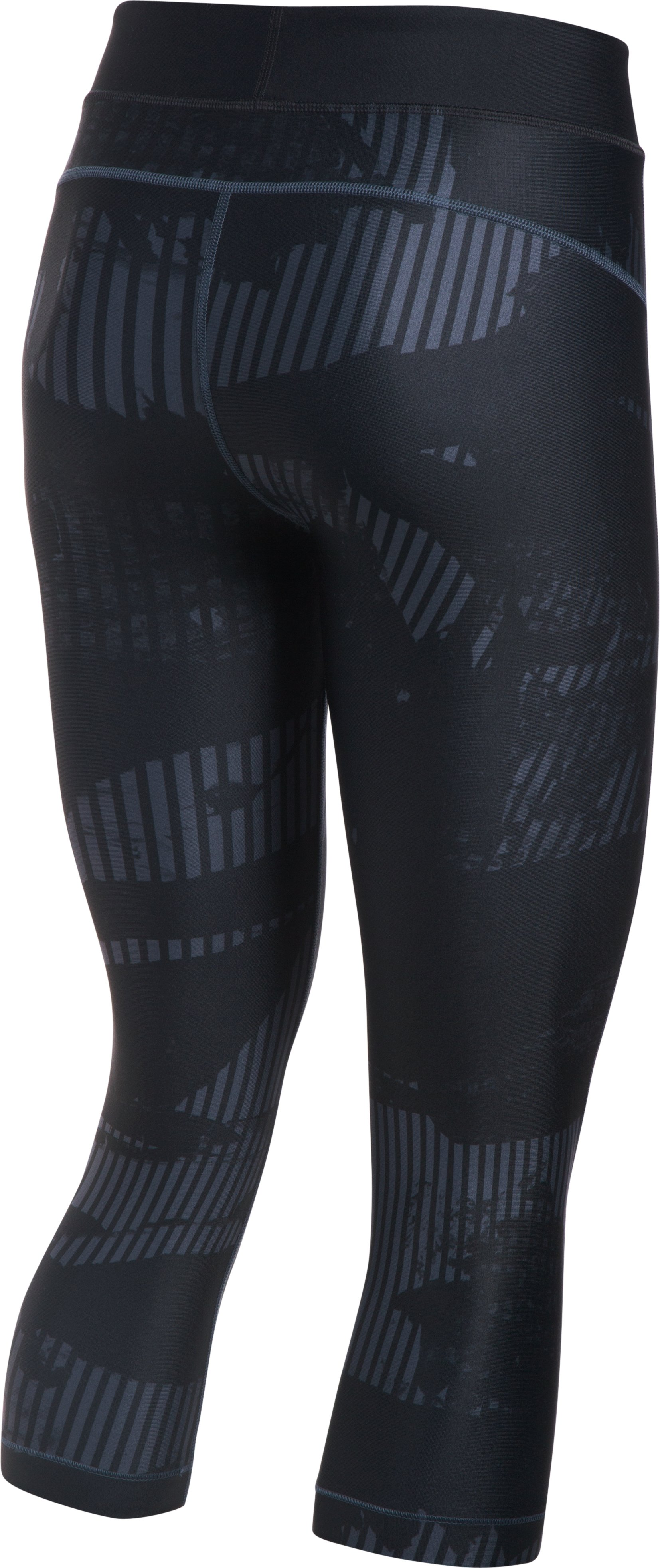 Women's HeatGear® Armour Printed Graphic Capris, STEALTH GRAY, undefined