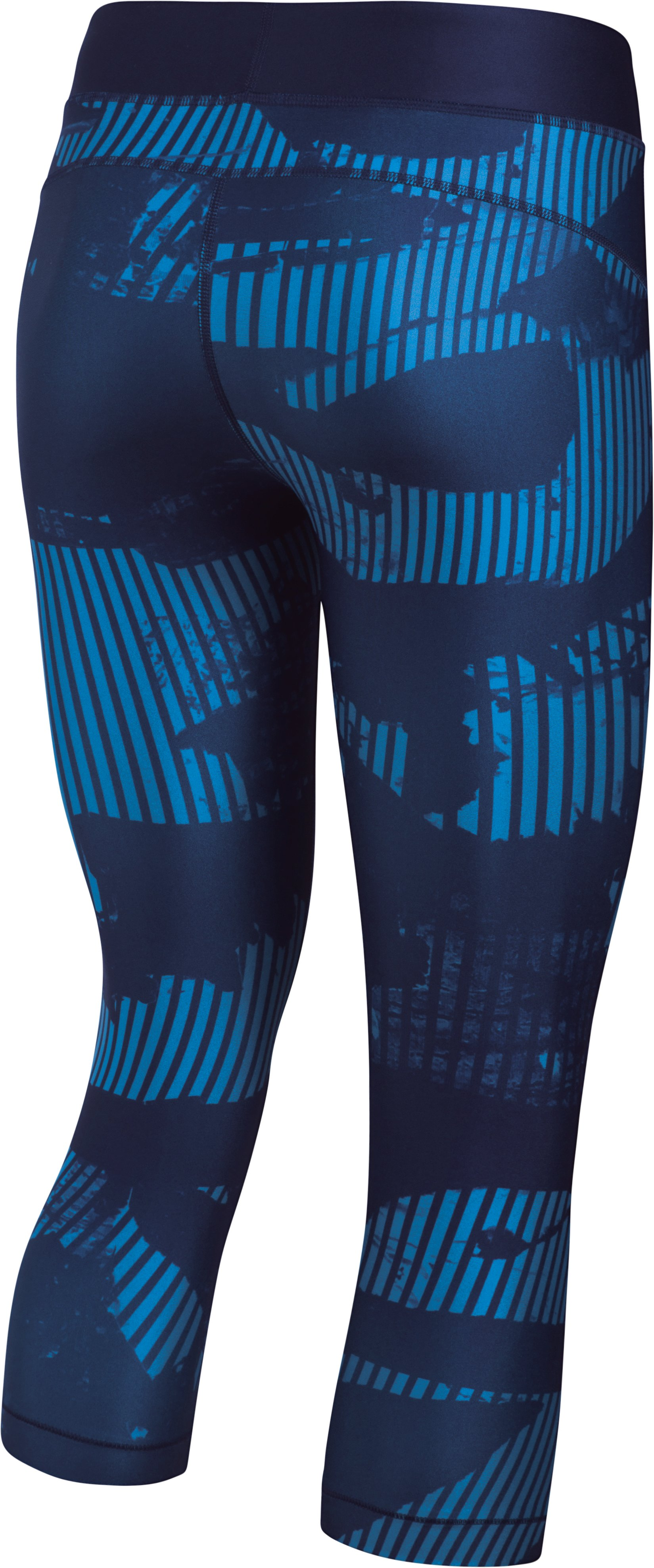 Women's HeatGear® Armour Printed Graphic Capris, Midnight Navy,