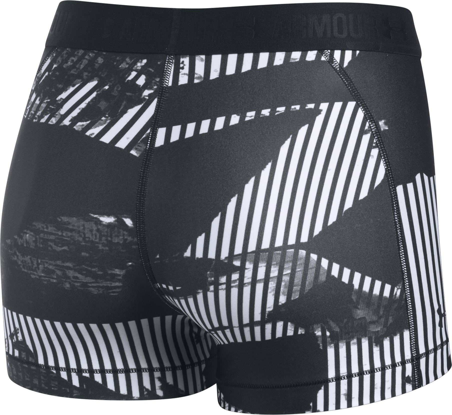 Women's HeatGear® Armour Printed Shorty, Black ,