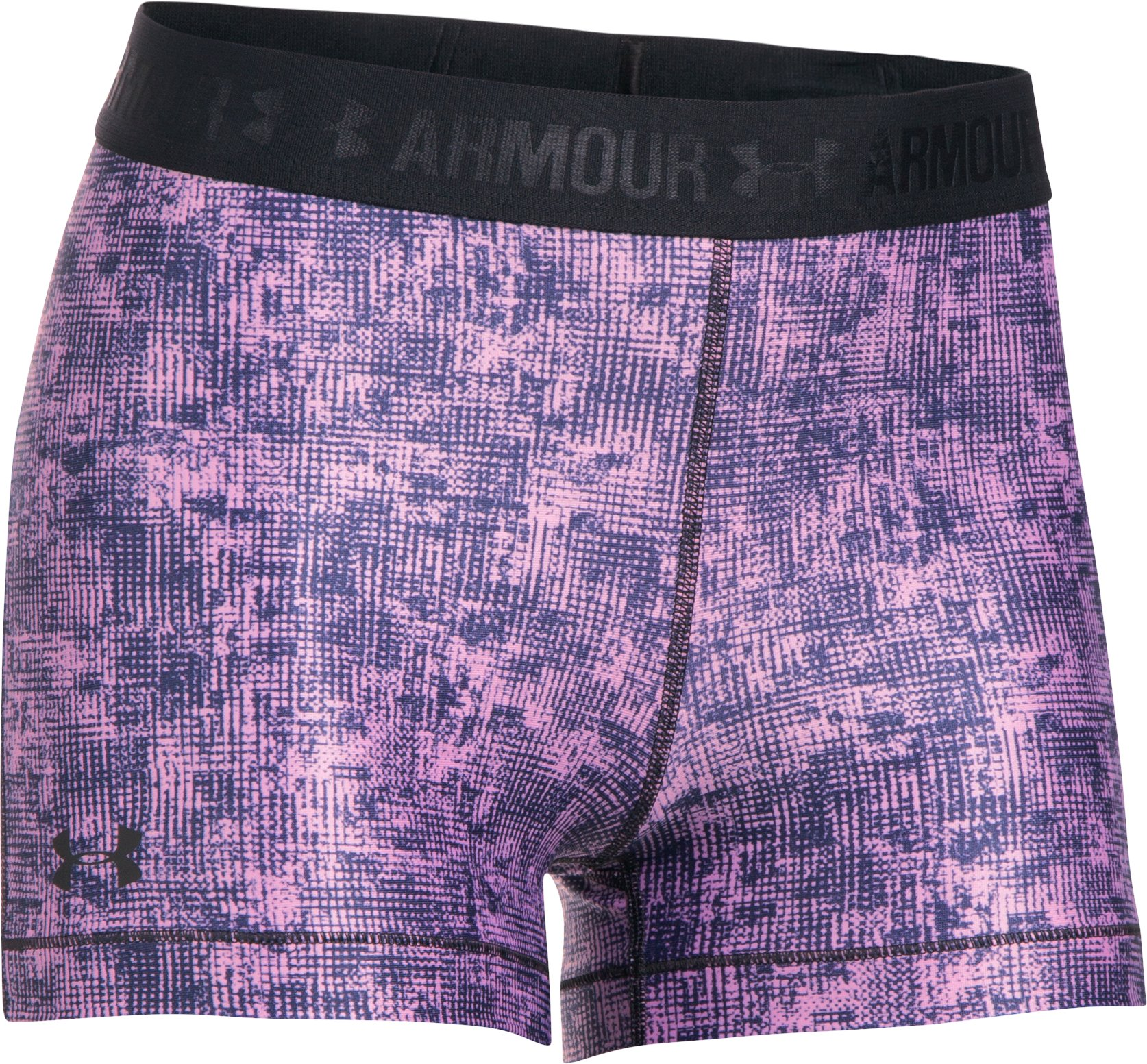 Women's HeatGear® Armour Printed Shorty, ICELANDIC ROSE,
