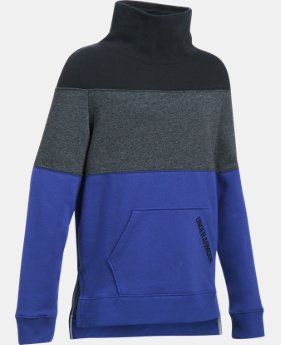 Girls' UA Threadborne™ Fleece Slouchy Crew LIMITED TIME OFFER 5 Colors $45.49
