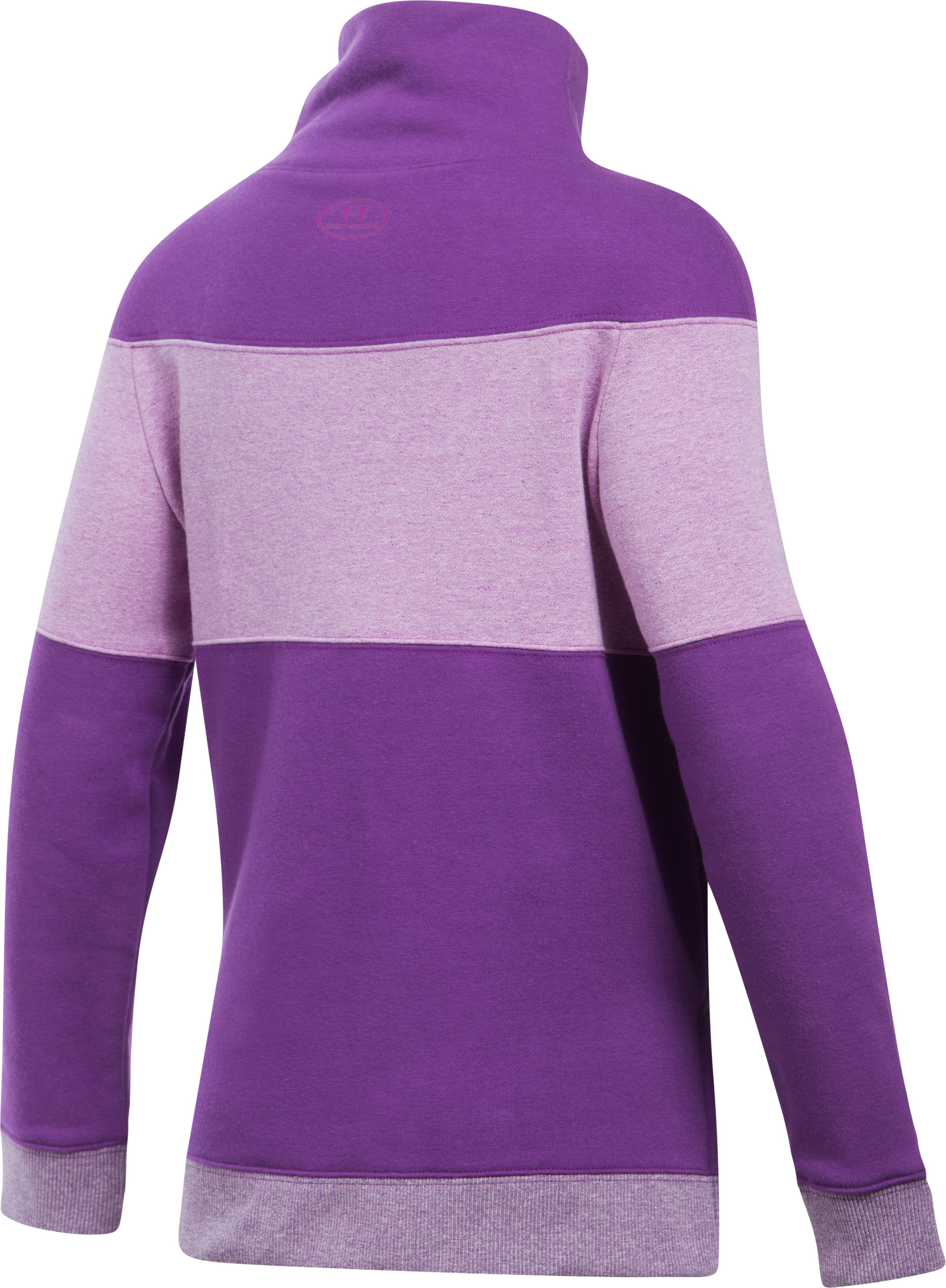 Girls' UA Threadborne™ Fleece Slouchy Crew, Indulge, undefined