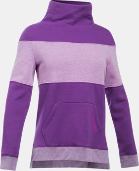 PRO PICK Girls' UA Threadborne™ Fleece Slouchy Crew LIMITED TIME OFFER 1 Color $38.49
