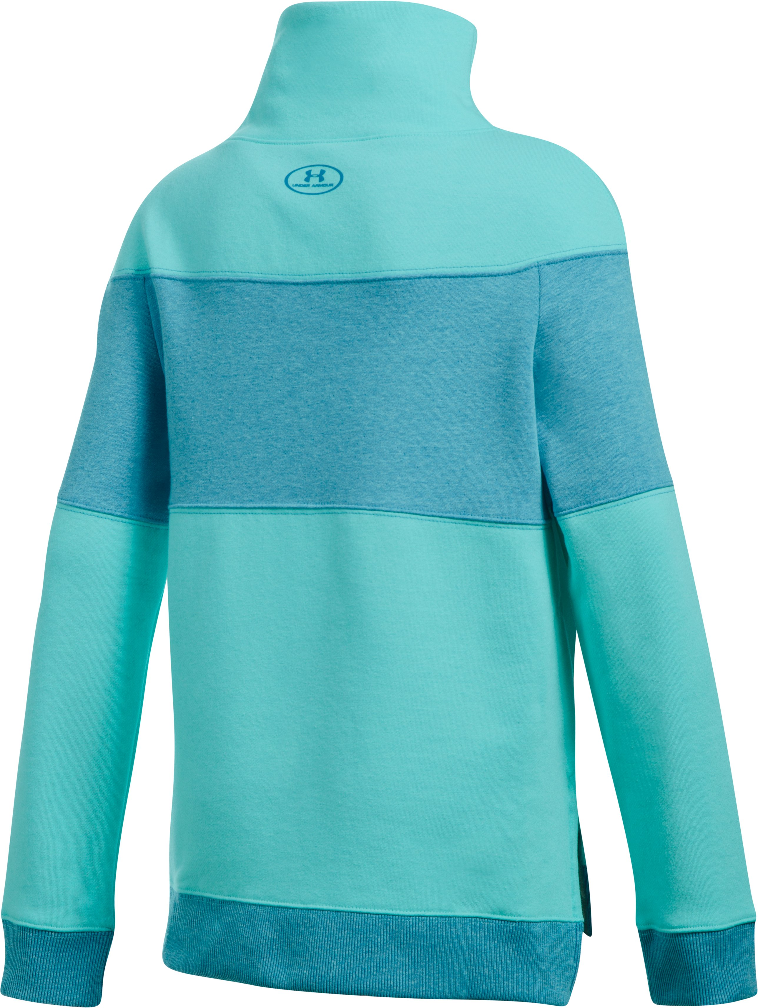 Girls' UA Threadborne™ Fleece Slouchy Crew, BLUE INFINITY, undefined