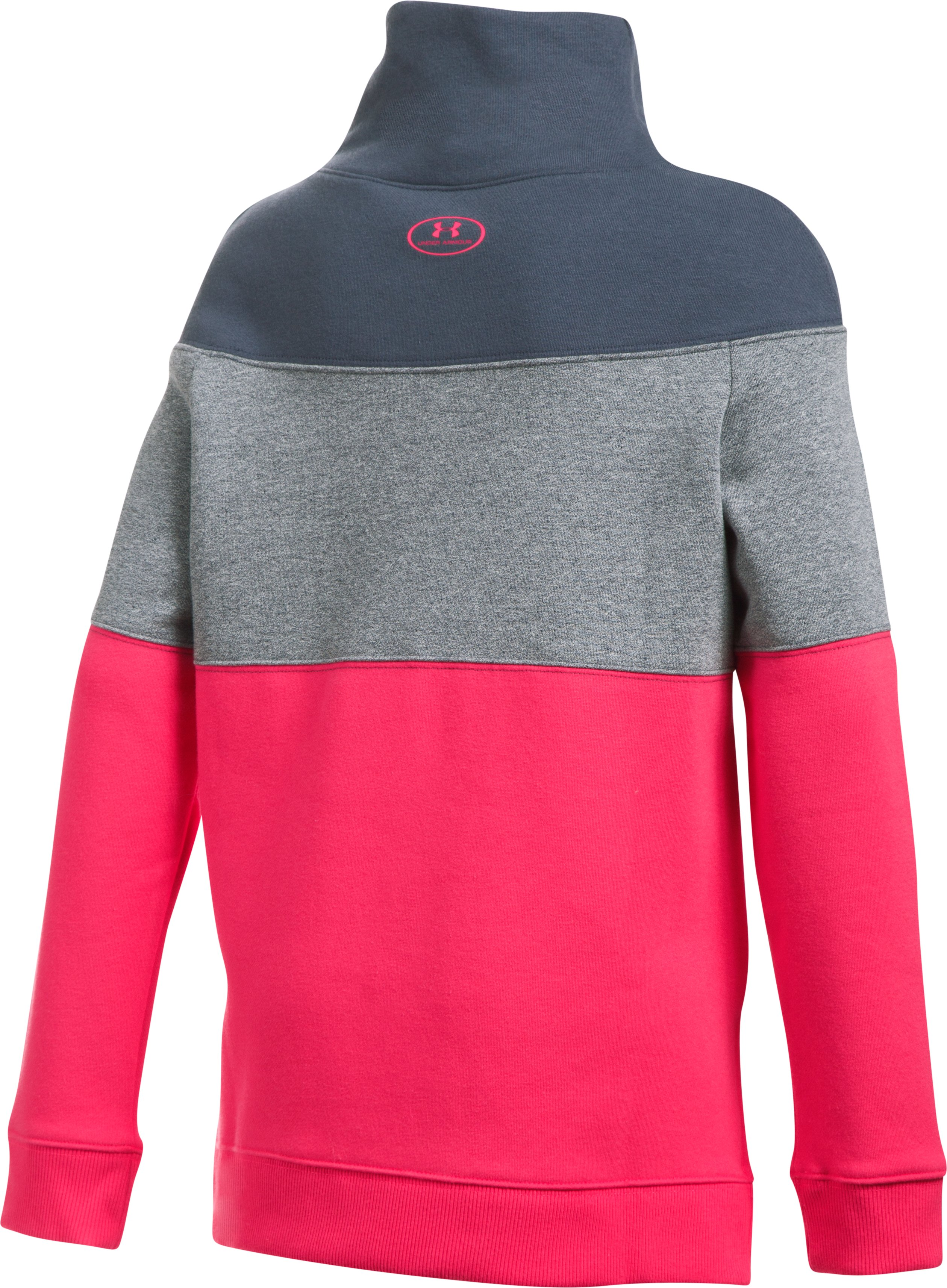 Girls' UA Threadborne™ Fleece Slouchy Crew, PENTA PINK, undefined