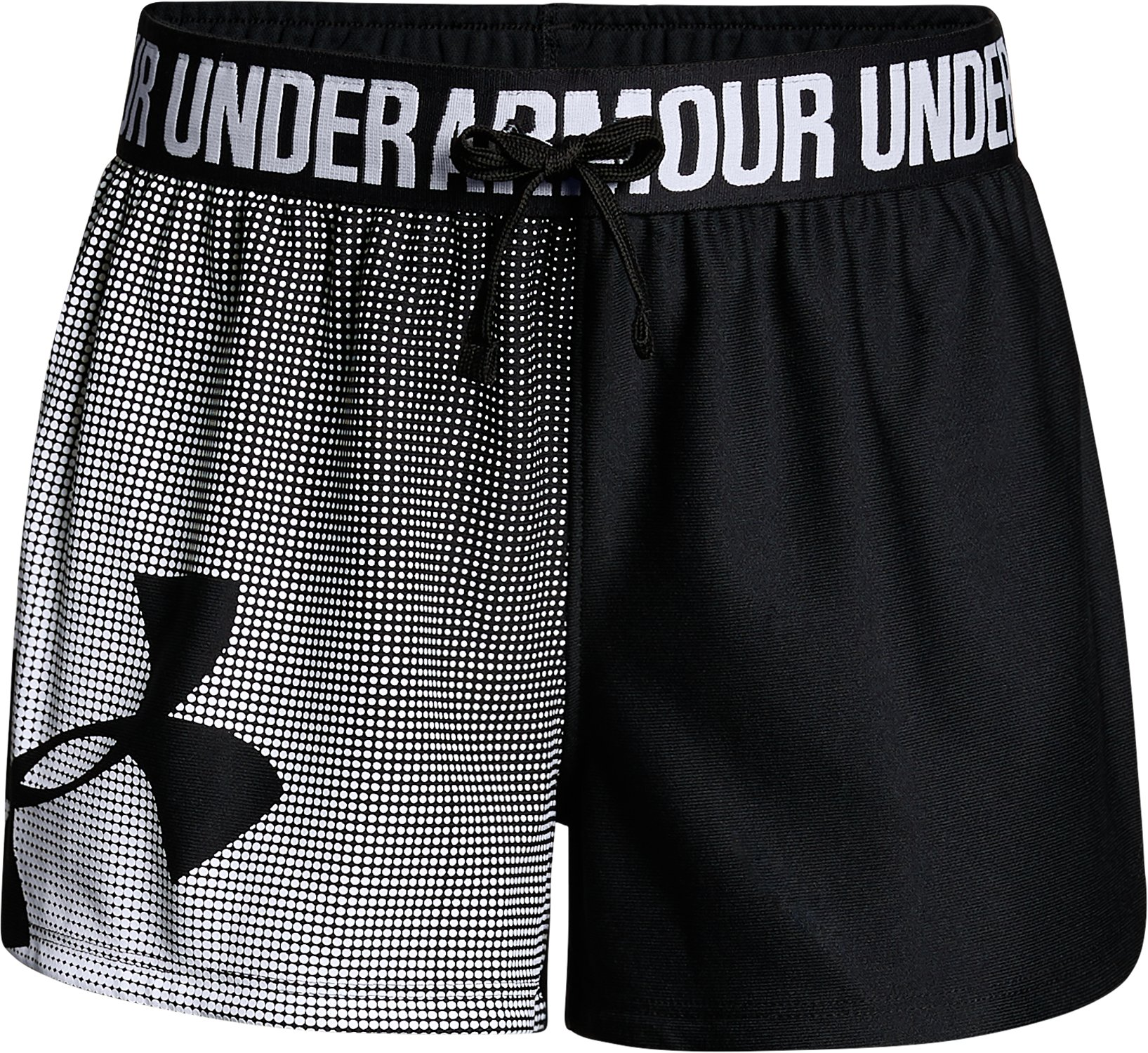Girls' UA Play Up Graphic Shorts, Black , undefined