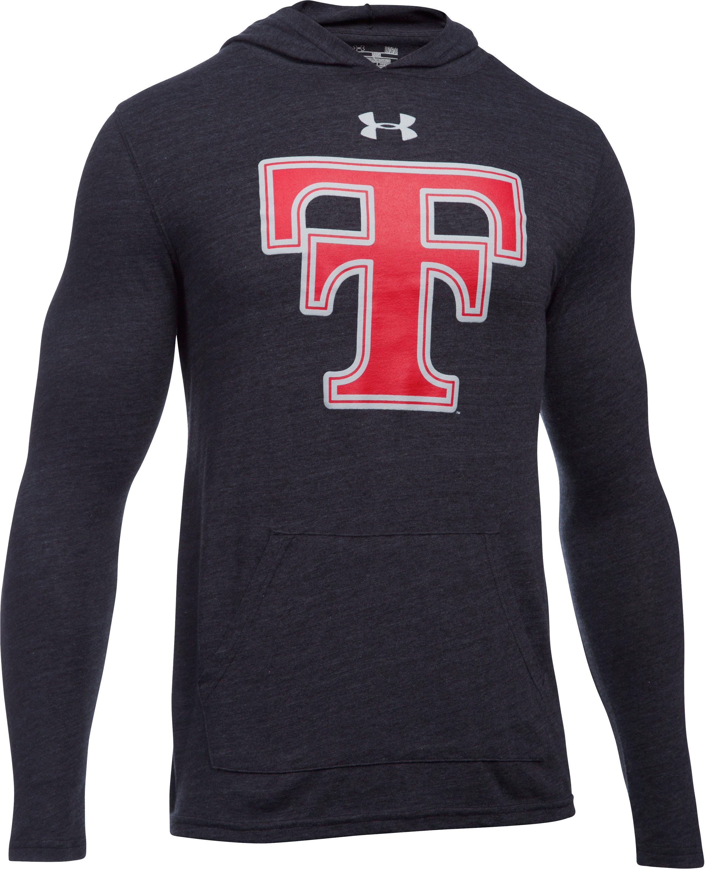 Men's Texas Tech UA Tri-Blend Hoodie, Black