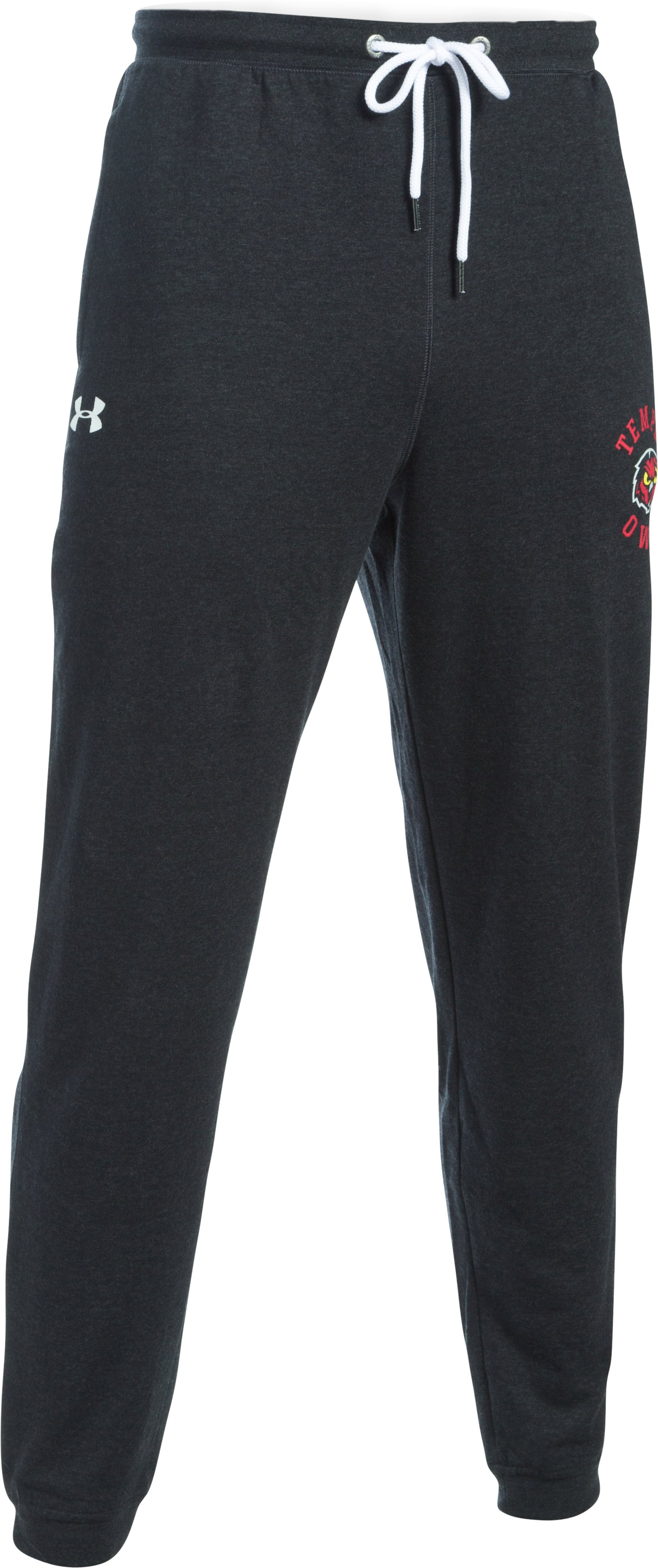 Men's Temple UA Tri-Blend Joggers, Black , undefined