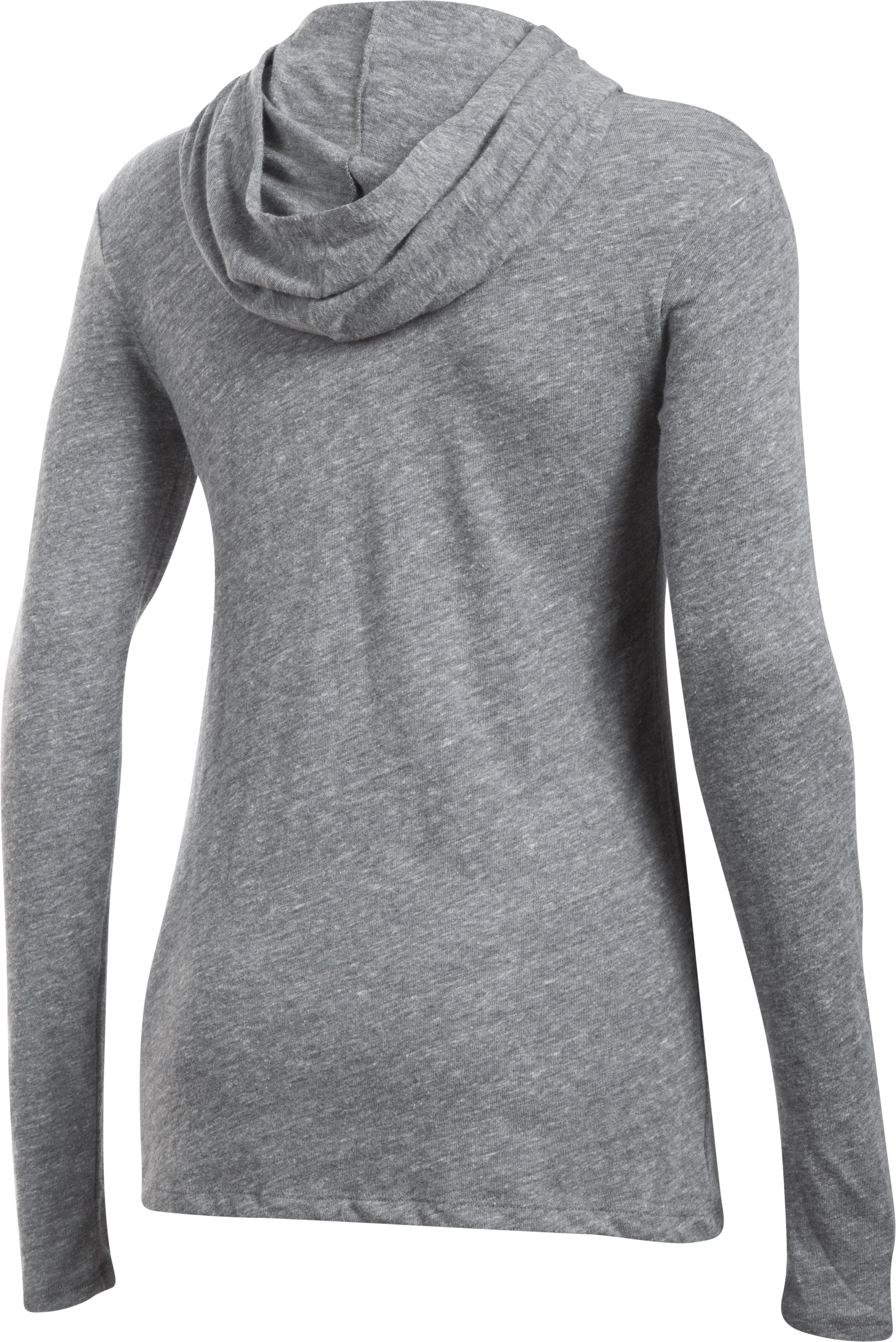 Women's Hawaii UA Charged Cotton® Tri-Blend Hoodie, LEGACY GRAY HEATHER,