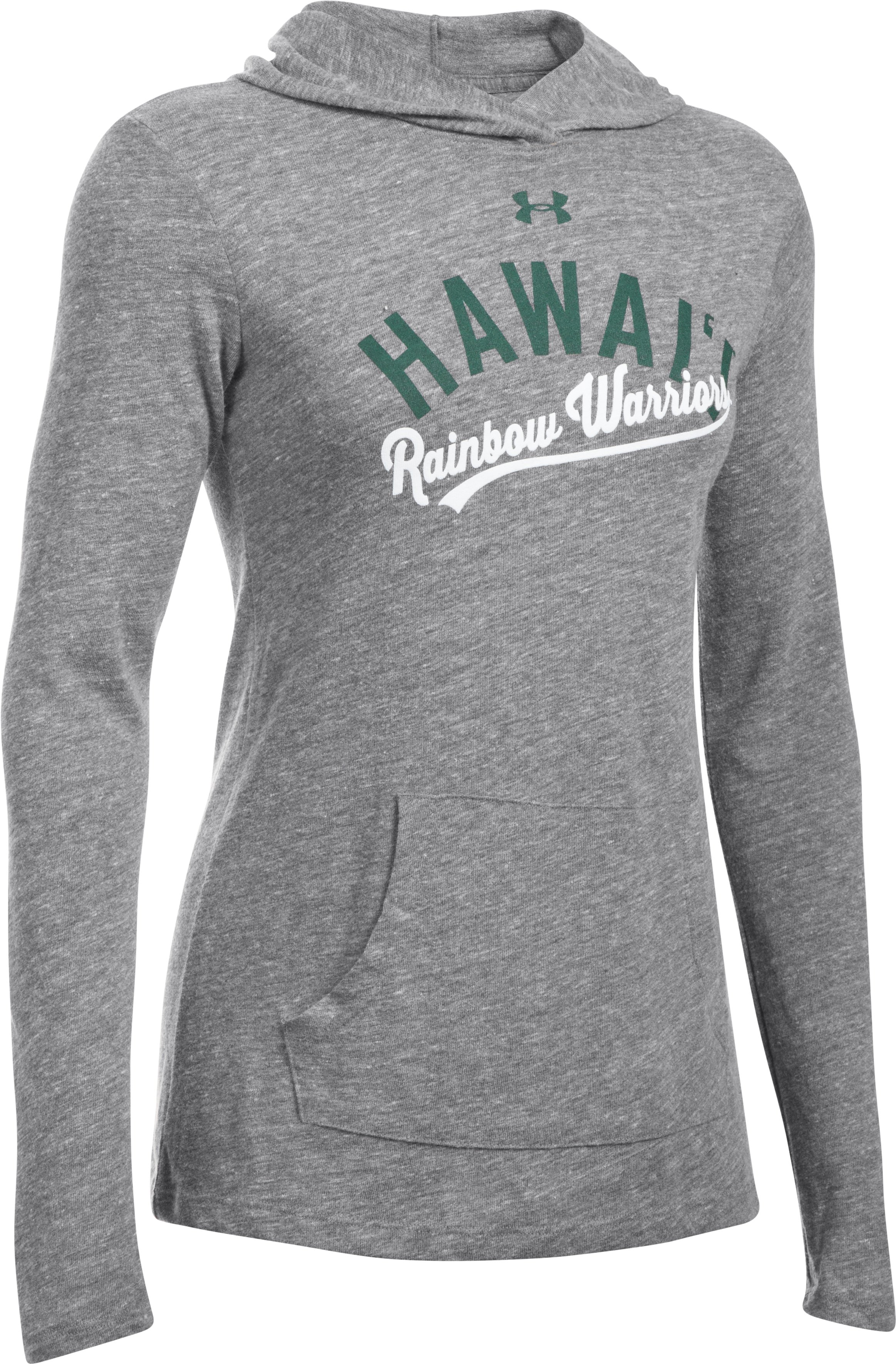 Women's Hawaii UA Charged Cotton® Tri-Blend Hoodie, LEGACY GRAY HEATHER