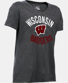 New Arrival Girls' Wisconsin UA Tech™ T-Shirt LIMITED TIME: FREE SHIPPING  $24.99
