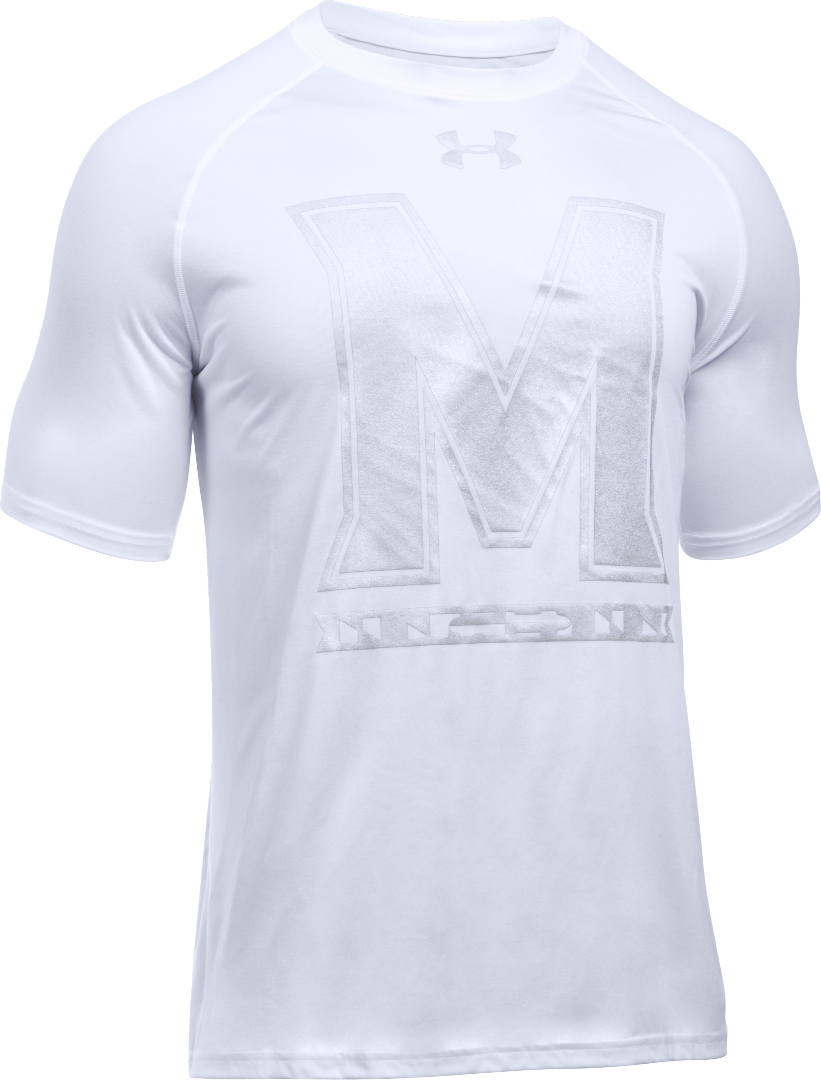 Men's Maryland UA Tech™ Flag T-Shirt, White,