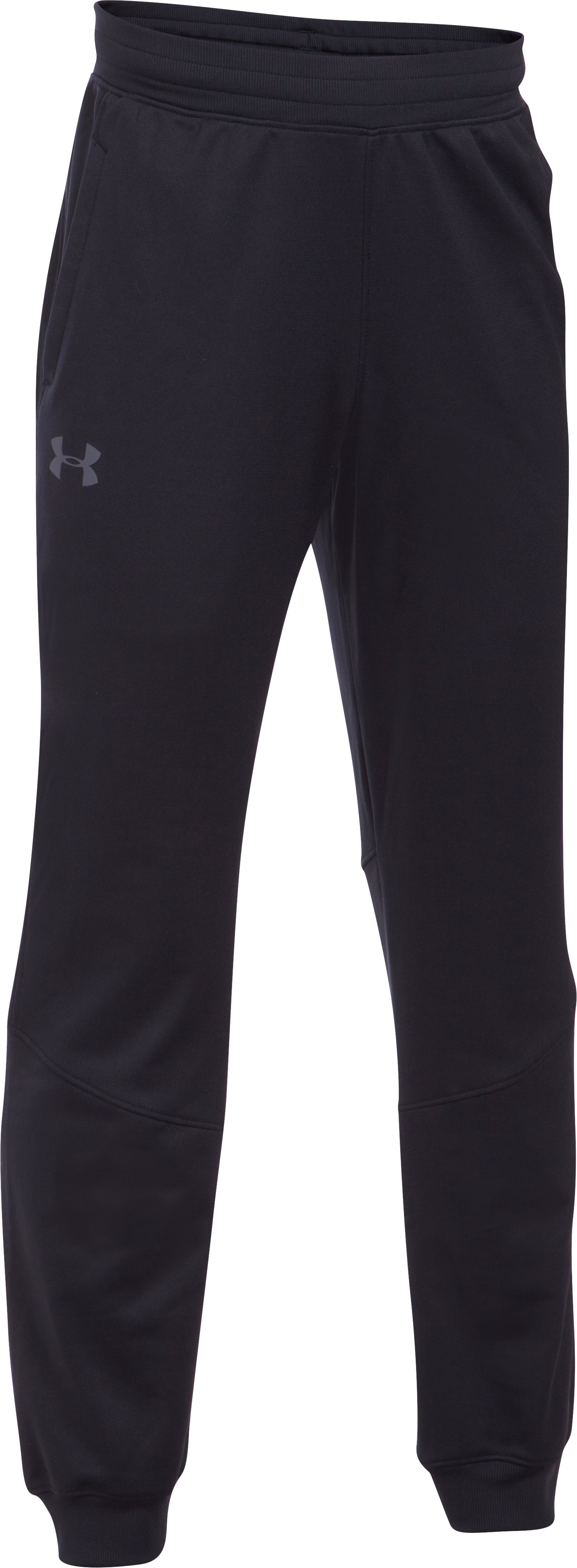 Boys' UA Interval Warm-Up Jogger, Black