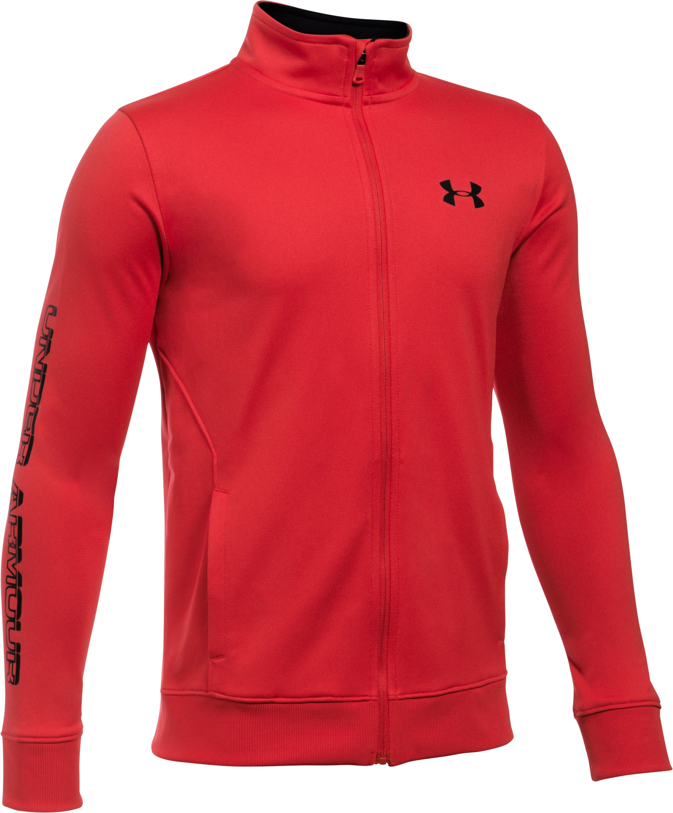 Boys' UA Interval Jacket, Red