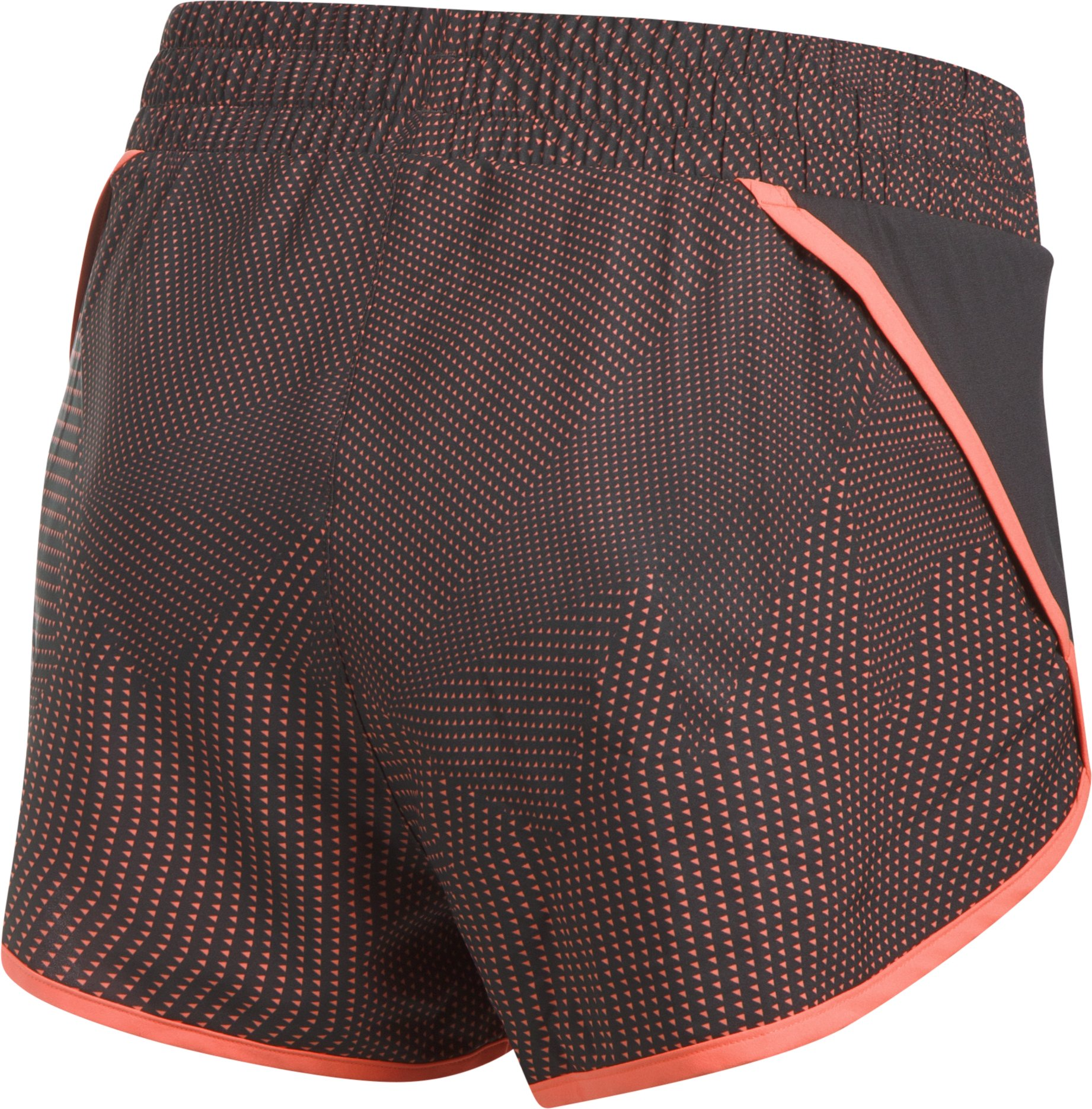 Women's UA Launch Printed Tulip Shorts, Charcoal, undefined