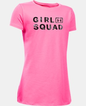 Best Seller Girls' UA Girl Squad Short Sleeve T-Shirt LIMITED TIME: FREE SHIPPING 1 Color $19.99
