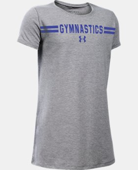 New Arrival Girls' UA Gymnastics Wordmark Short Sleeve T-Shirt LIMITED TIME: FREE SHIPPING 1 Color $19.99