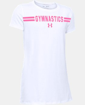 Girls' UA Gymnastics Wordmark Short Sleeve T-Shirt  1 Color $14.99