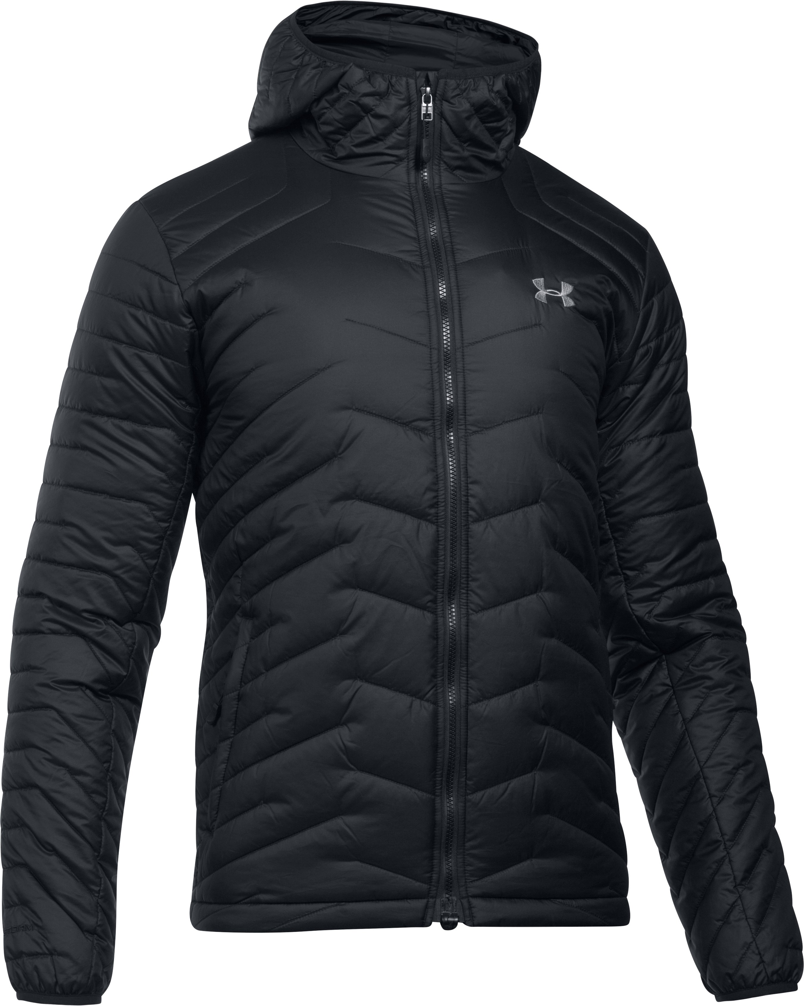 Men's ColdGear® Reactor Hooded Jacket, Black , undefined
