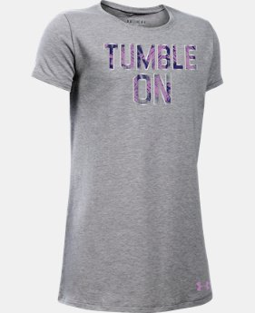 Best Seller Girls' UA Tumble On T-Shirt LIMITED TIME: FREE SHIPPING 2 Colors $19.99