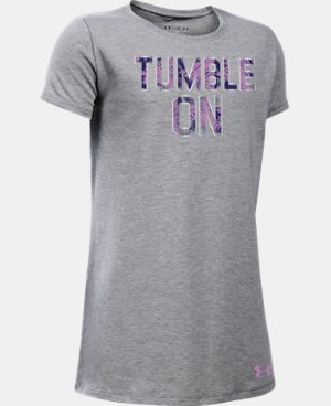 Girls' UA Tumble On T-Shirt LIMITED TIME: FREE SHIPPING 1 Color $22.99