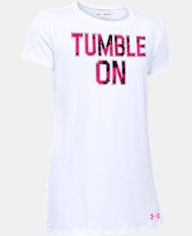 Best Seller Girls' UA Tumble On T-Shirt LIMITED TIME: FREE SHIPPING  $19.99