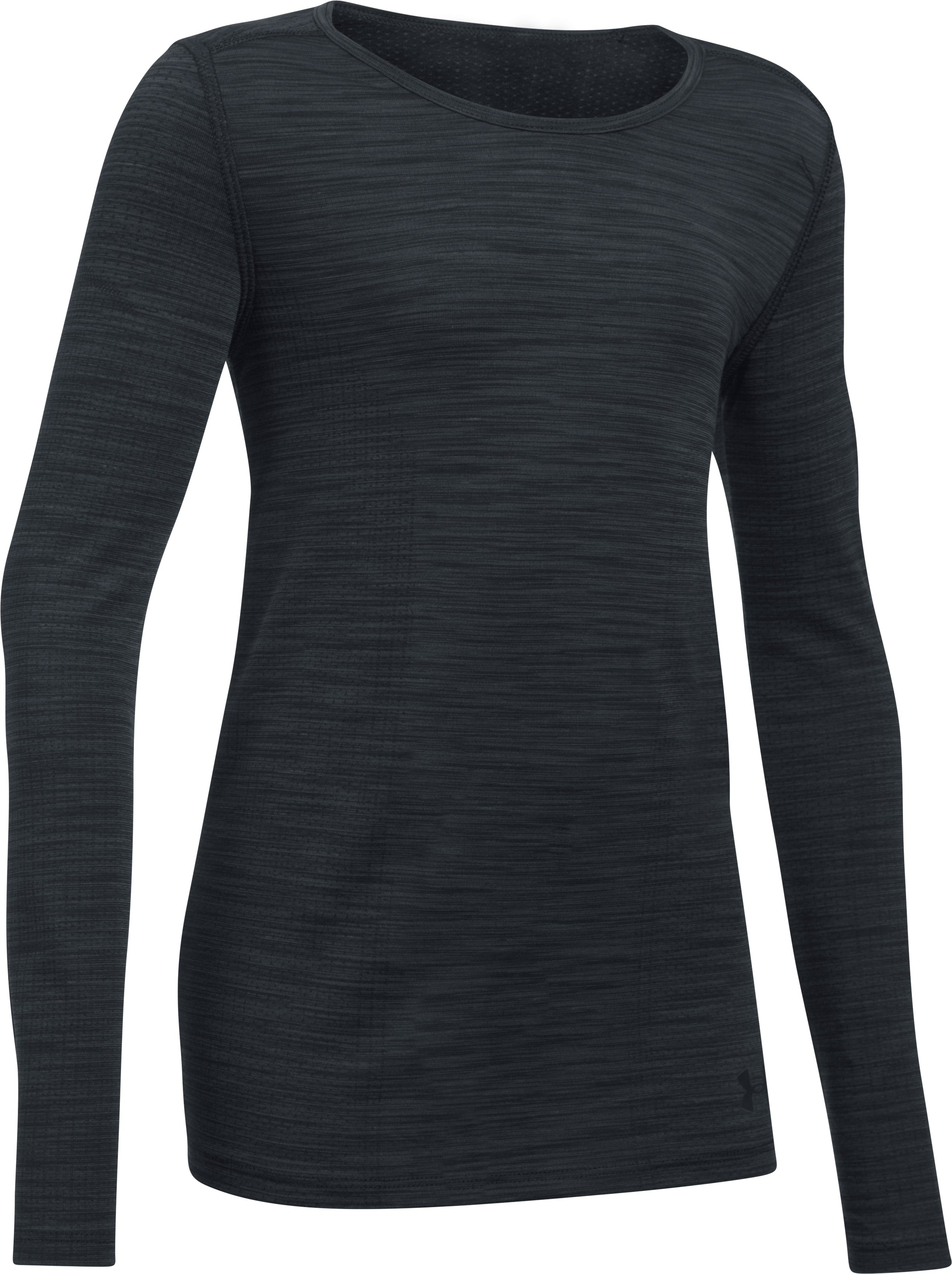 Girls' UA Elevated Seamless Long Sleeve, Black