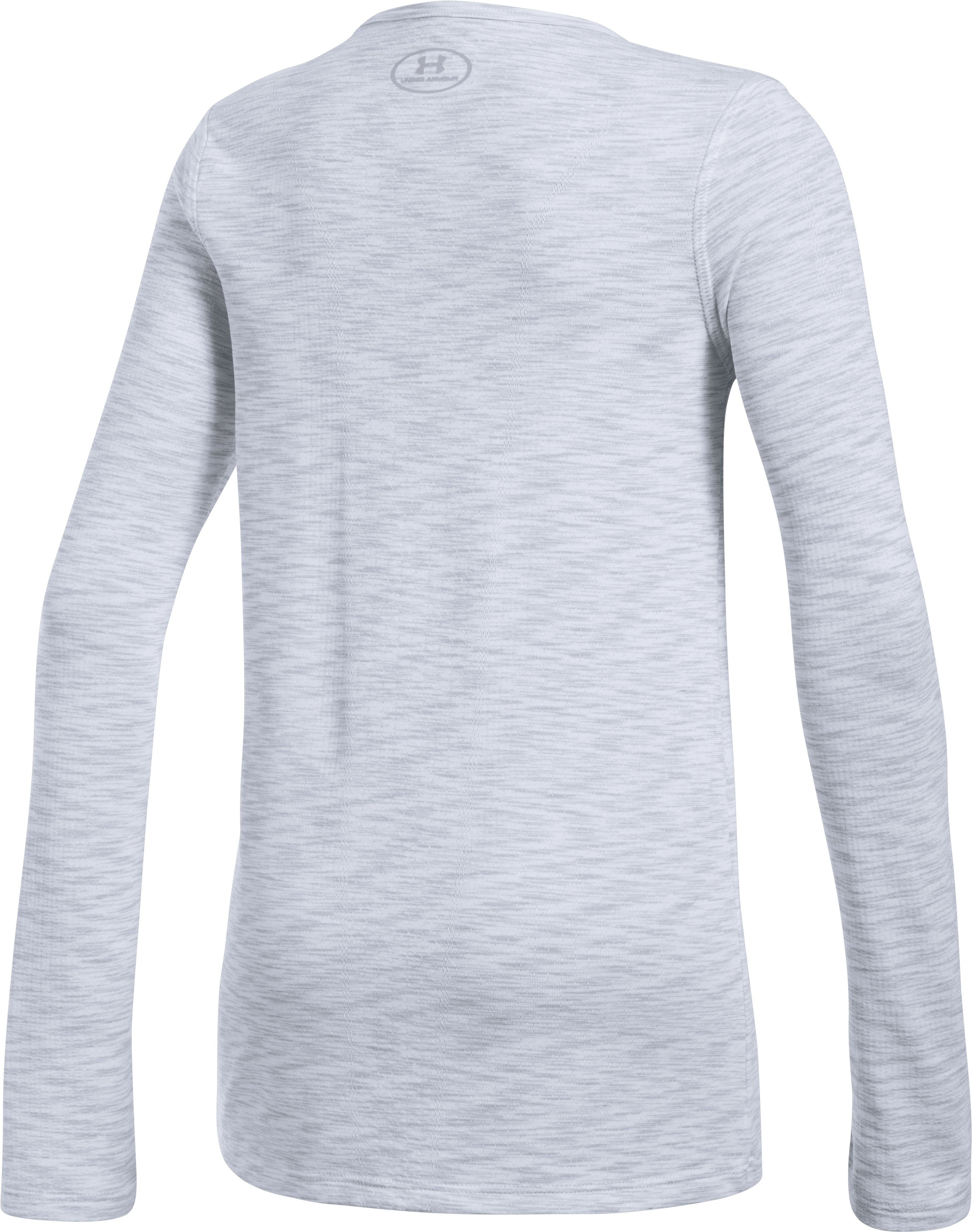 Girls' UA Elevated Seamless Long Sleeve, White,