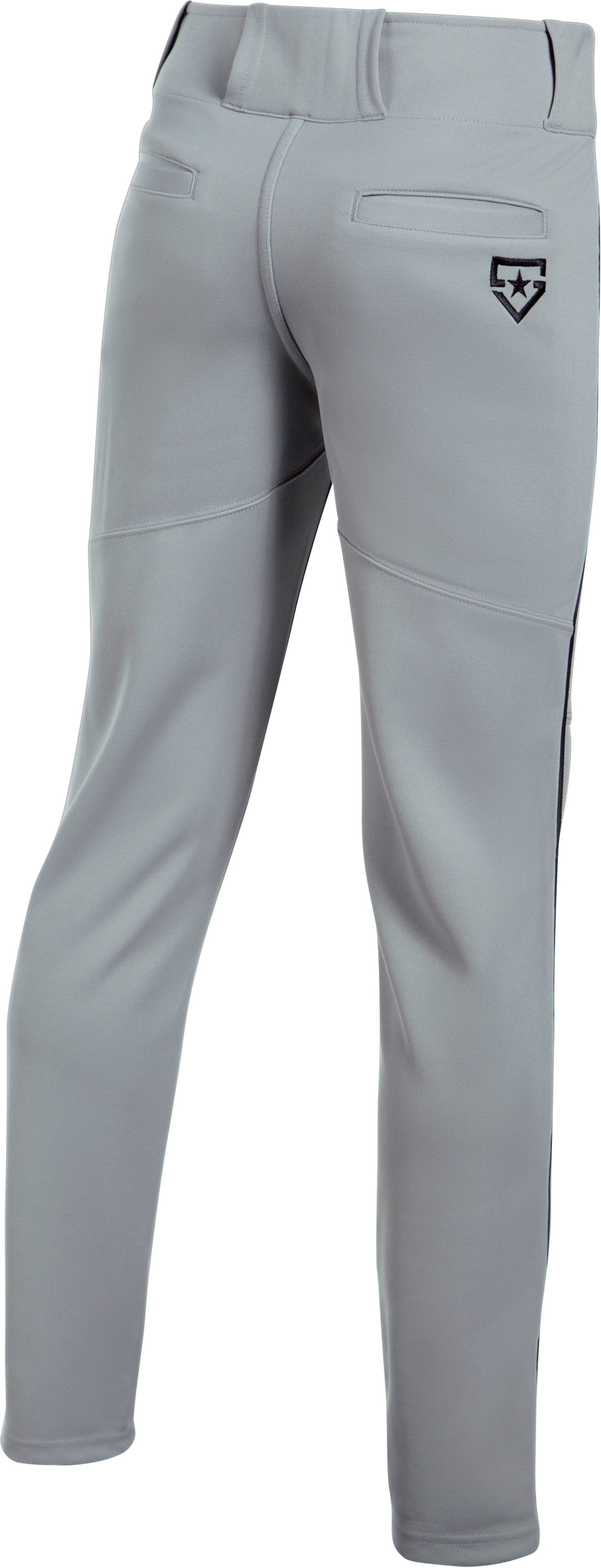 Boys' UA Heater Piped Baseball Pants, Baseball Gray, undefined